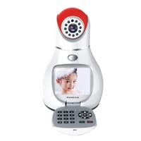Red NPC Indoor Wifi Baby Monitor H.264 NIght Vision All In One Live Video Call Camera IP
