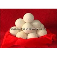Refractory ball for hot blast stove