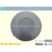 Round perforated metal mesh speaker grille