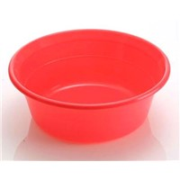 Round plastic basin used for food industry
