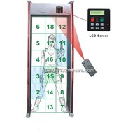 SF-500 18 Zones(LCD) Walk through metal detector
