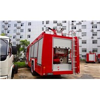 SINOTRUK HOWO 4x2 6m3 fire fighting truck water tank with foam tank