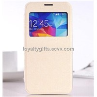 Screen Film Visible PU Case cover For samsung galaxy S5 I9600