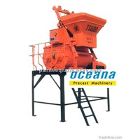 Stationary self-loading electric JS Series Compulsory Concrete Mixer