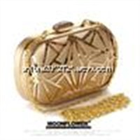 Supply hot seller american style women's unique rectangle Sexy party clutch bag with chains