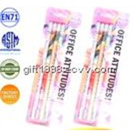 The new type natural material certificated healthy round wooden shrink film HB pencil