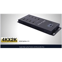 Wall Mounted 8 port HDMI Splitter 1x8