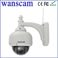 Wanscam HW0028 Megapixel 3xOptical Zoom IR 15M p2p Outdoor wifi ptz dome IP camera
