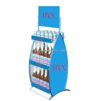 beer display racks, wine bottle display rack, canned food display racks