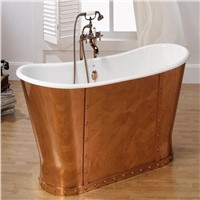classic cast iron  bathtub with pedestal