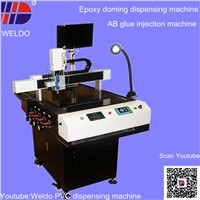 epoxy doming dispensing machine for metal badge