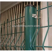 galvanized/pvc coated welded curved mesh fence factory