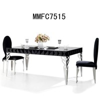 home furniture modern dining table stainless steel coffee table tea table cocktail table