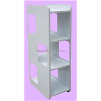 hot sale white magazine display rack/modern newspaper rack/metal book rack