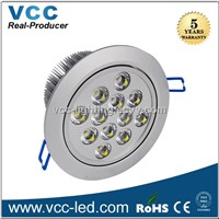 Hot Selling 115mm Cutout 12w LED Downlight 3 Years Warranty Down Light