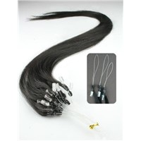 human hair extensions in virgin human hair loop hair micro ring hair extension