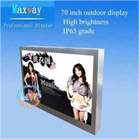 industrial grade 70 inch outdoor lcd display for outdoor advertising
