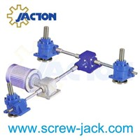 jack system with four worm gear screw jacks and two bevel gear boxes suppliers and manufacturers