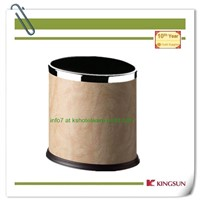 leather dustbin without lid single layer for hotel use