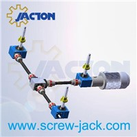 linear lift table-multi lift worm gear screw jack actuators system suppliers and manufacturers