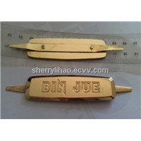 metal furniture nameplate,die casting metal label for garment