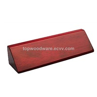 Rosewood Pinao Finish Name Block Wooden Wedge