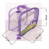 pvc zipper cosmetic pouch,pvc clear handle bag,pvc bag with hand
