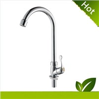 2015 Hot Sales single handle chrome plastic kitchen faucet KF-1003