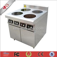 stainless steel four burner induction range 4*3.5kw oven