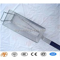 stainless steel square chip cooking mesh basket