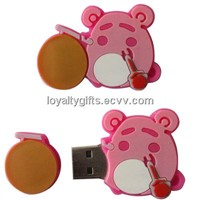 standard size soft pvc USB flash driver holder