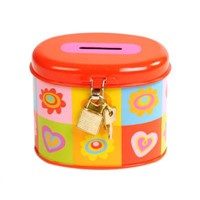 tin money box  coin bank saving box