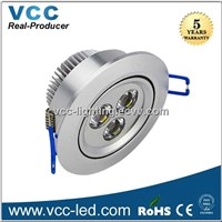 high power 3W led downlight dimmable, 3w-36w led light