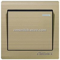 wall switch 1gang 1way rocker champagne color