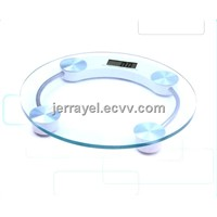 Round glass digital scale electronic scale