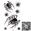 temporary Spider tatoo/arm,waist,back,chest,body/Spider,letter/waterproof,tattooing fake body art/CE