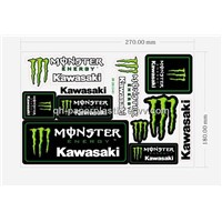 "10.6x7.08""  Sticker Sheet/PVC Sticker/ Vinyl Moto Sticker/ PVC Sticker Sheet"