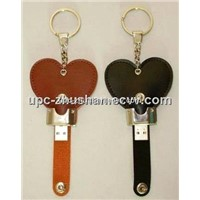 Fashion Cartoon Leather USB Flash Drive