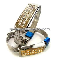 Popular Crystal Wristband Flash Disk