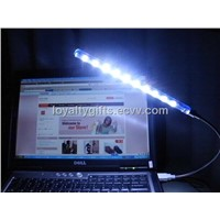 10 lights Super Bright Led PC Laptop Notebook Light/Lamp USB White Flexible