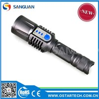 1200LM LED Flashlight USB Rechargeable LED Car Lighter Torch Flashlight
