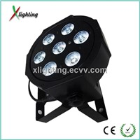 2014 7*10w RGBW 4IN1 led flat par can led stage light (X-P710A)