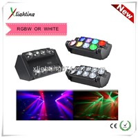 2014 NEW 8 PCS 10W White Spider LED Disco Light led moving head led stage lighting