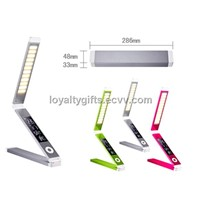 2014 deluxe modern multicolor portable foldable and rechargeable led desk/table reading lamps
