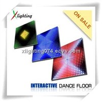 2014 hot Sensor led dance floor interactive dance floor led stage light(X-L05D)