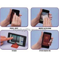 2014 hot selling microfiber adhesive Mobile screen cleaner sticker