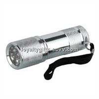 9 led mini aluminum led torch