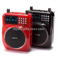 A825 high power Big LCD screen Portable Amplifier support USB/TF/ FM radio
