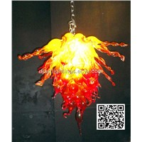 Art glass chandelier