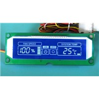 CPU fan controller board with LCD display